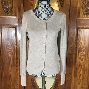Express Champagne Sparkle Cardigan Sweater